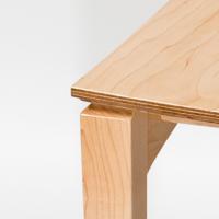 houten zitting eetkamerstoel